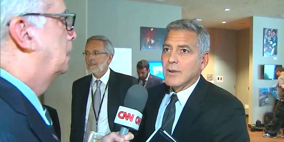Out of the LOOP: George Clooney Finds Out About Brangelina Divorce During CNN Interview! image