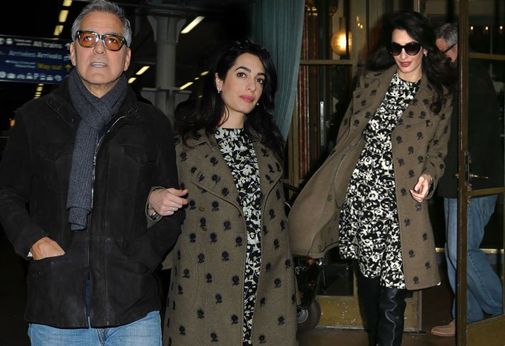 George and Amal Clooney Gave Out Free Headphones Aboard First-Class FLIGHT! image