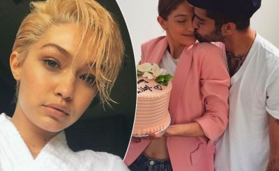 Gigi Hadid Kisses Zayn Malik WITH A CAKE on Her Birthday!