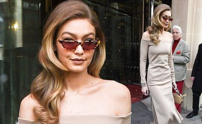Gigi Hadid Bares in Beige While Leaving PARIS Hotel!
