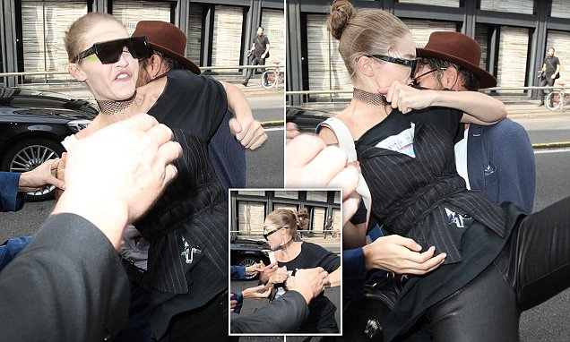 """HELP! HELP!"" Gigi Hadid ATTACKED During Milan Fashion Week, Says Attacker Was Lucky Zayn Malik Wasn't There! image"