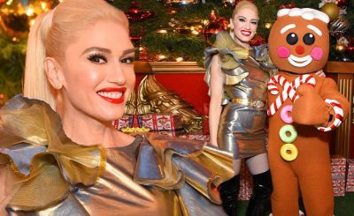 GWEN STEFANI Performs 'It Feels Like Christmas' at LA's 'The Grove'