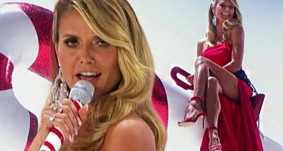 Heidi Klum SINGING 'Santa Baby' on 'America's Got TALENT'
