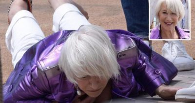 72-Year-Old Helen Mirren FALLS DOWN AT CANNES!