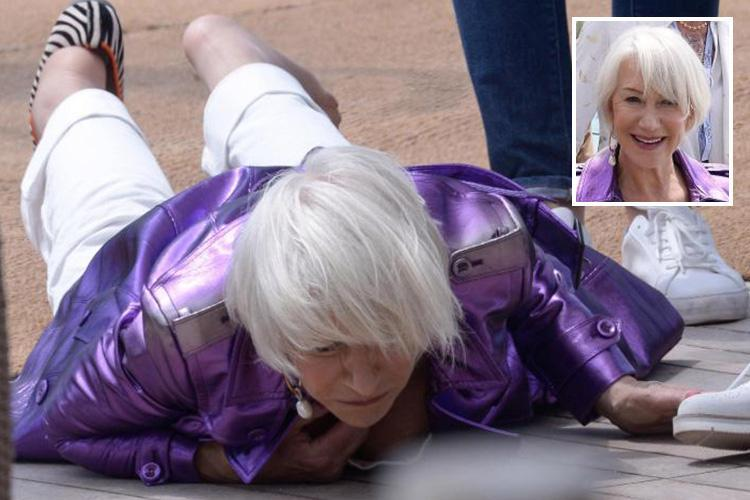 72-Year-Old Helen Mirren FALLS DOWN AT CANNES! image