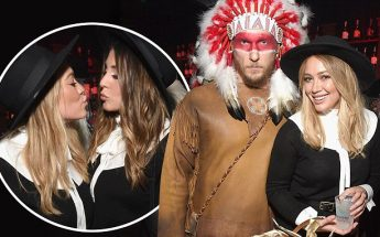 DIOS MIO: Hilary Duff & Boyfriend Jason Walsh Dress Up as Sexy Pilgrim & Native American Chief For Halloween!