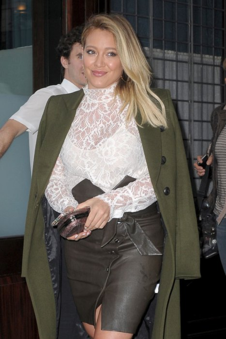 PARTY UP: Hilary Duff Bloated and Worse For Wear After 29th Birthday image