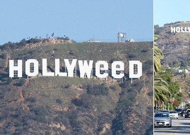 Prankster Changes Famous 'HOLLYWOOD' Sign to 'Hollyweed'