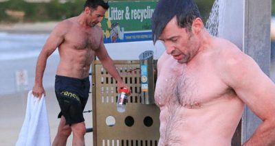HUGH JACKMAN Hits the Beach in SPEEDOS