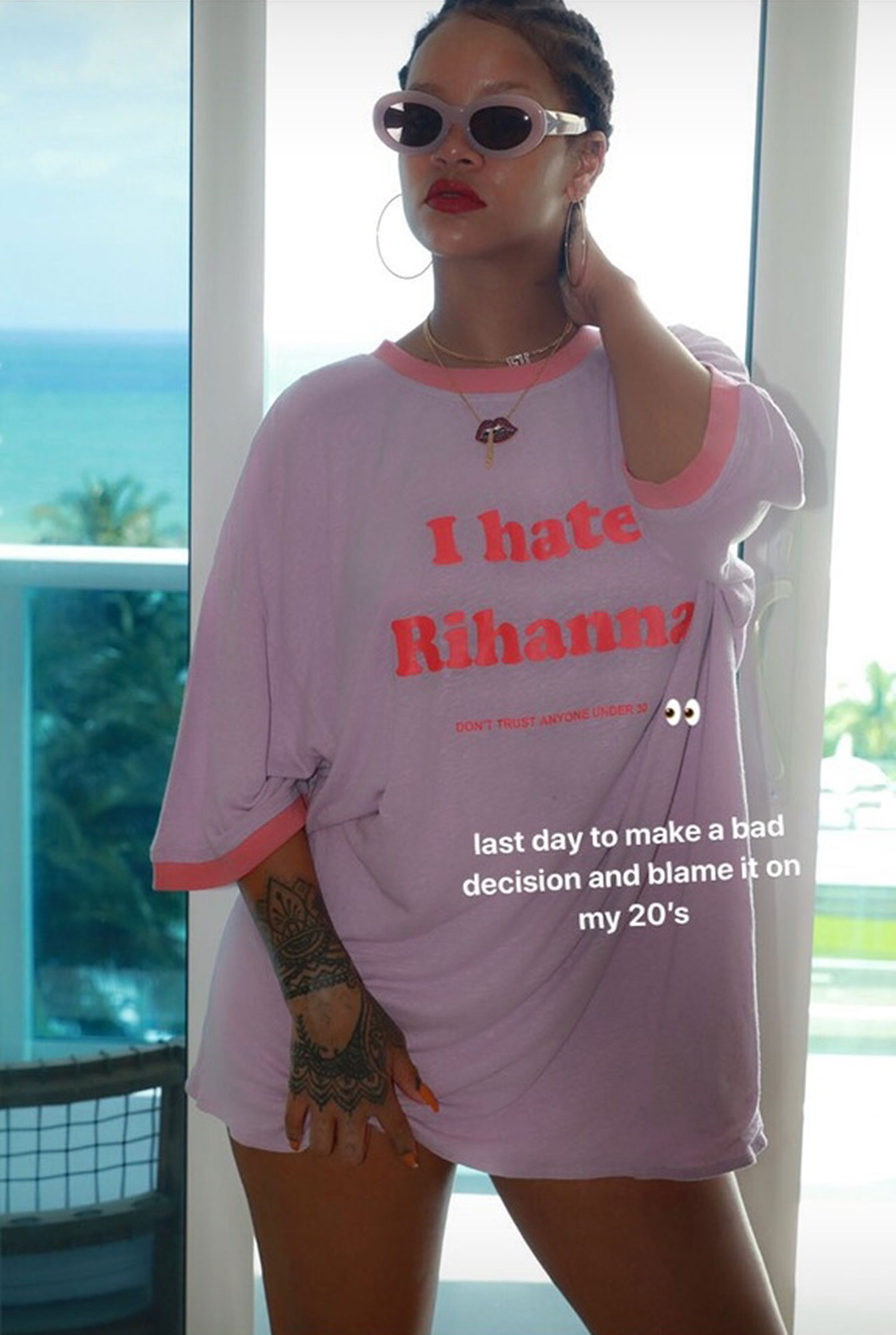 Rihanna Turns 30 Years Old, Celebrates By Taking Off Bra image