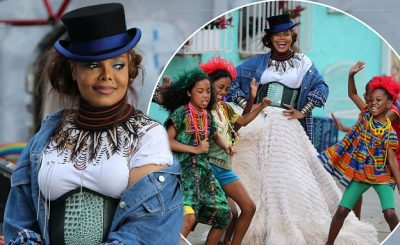 Janet Jackson Shoots Colorful Music Video