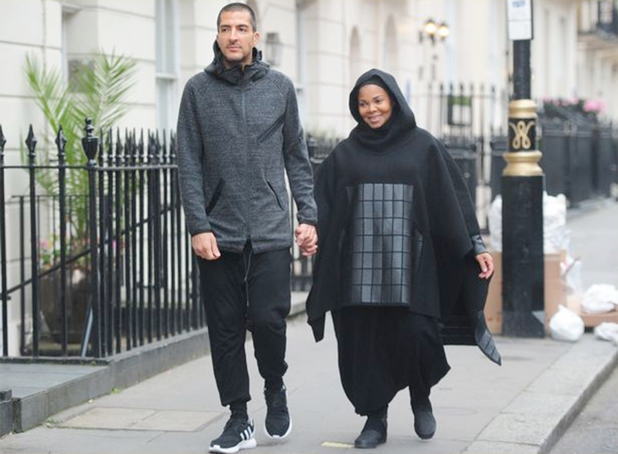 Janet Jackson Wears Islamic Hijab Around London