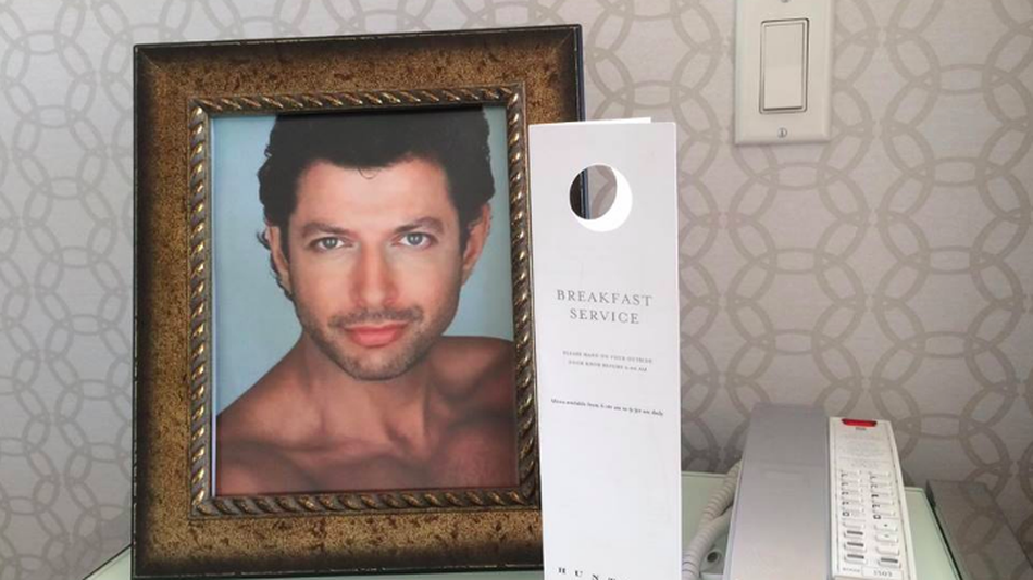 Hotel-Goer Has His Room Decorated With Photos Of Jeff Goldblum, and Gets Charged for The Photo Frames! image