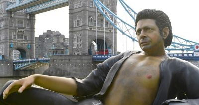 Nude Jeff Goldblum Statue Erected in London Park!