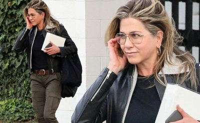 SINGLE Jennifer Aniston Wears Boots and ARMY Pants to Salon After Divorce!