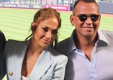 Jennifer Lopez Stands By Alex Rodriguez @ Yankees Stadium