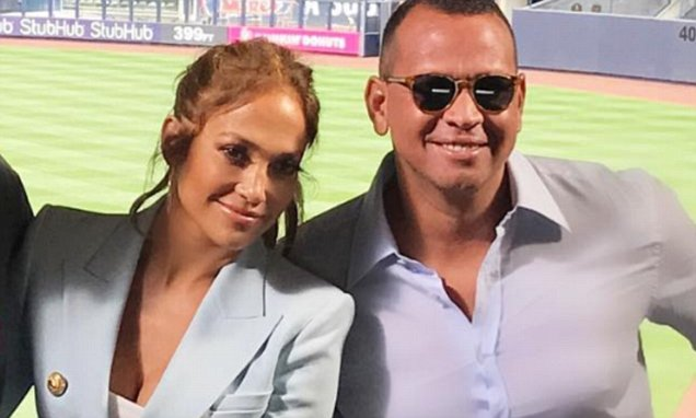 Jennifer Lopez Stands By Alex Rodriguez @ Yankees Stadium