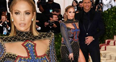 Jennifer LOPEZ Covers Breasts With Bedazzled CRUCIFIX at Met Gala