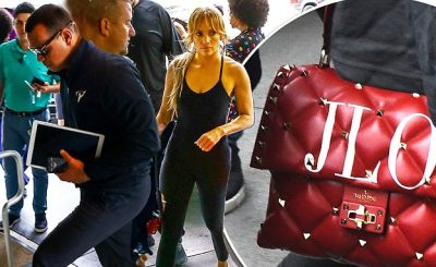 JENNIFER LOPEZ Carries Personalized 'JLO' Bag by Valentino to the GYM!