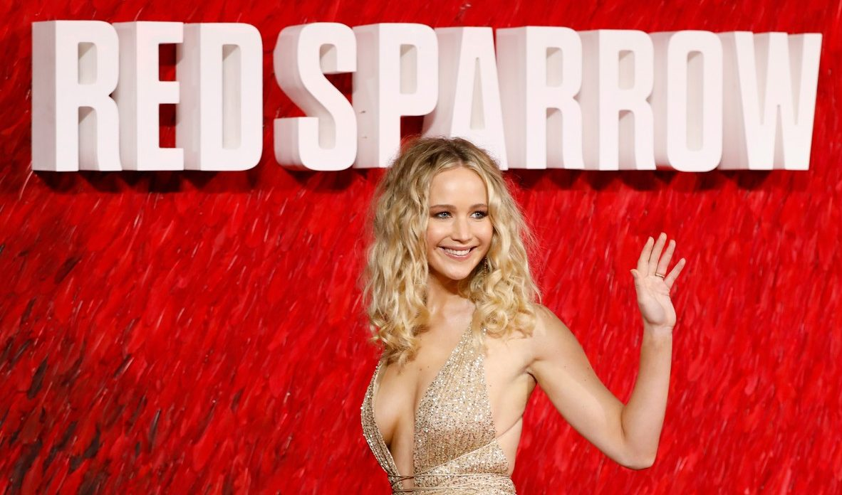 Jennifer Lawrence Amazes in Christian Dior For RED SPARROW Red Carpet! image