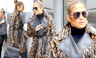 Call PETA! Jennifer Lopez Wears a LEOPARD in NYC!