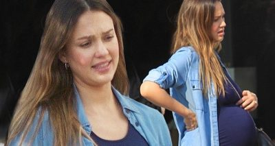 Jessica Alba Shows Lunchtime BabyBump!