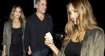 Jessica Alba Shows BABY BUMP During Dinner Outing