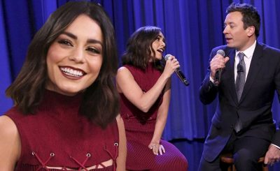 Vanessa Hudgens is Addicted to Singing as She Sings FRIENDS Theme Song on Jimmy Fallon