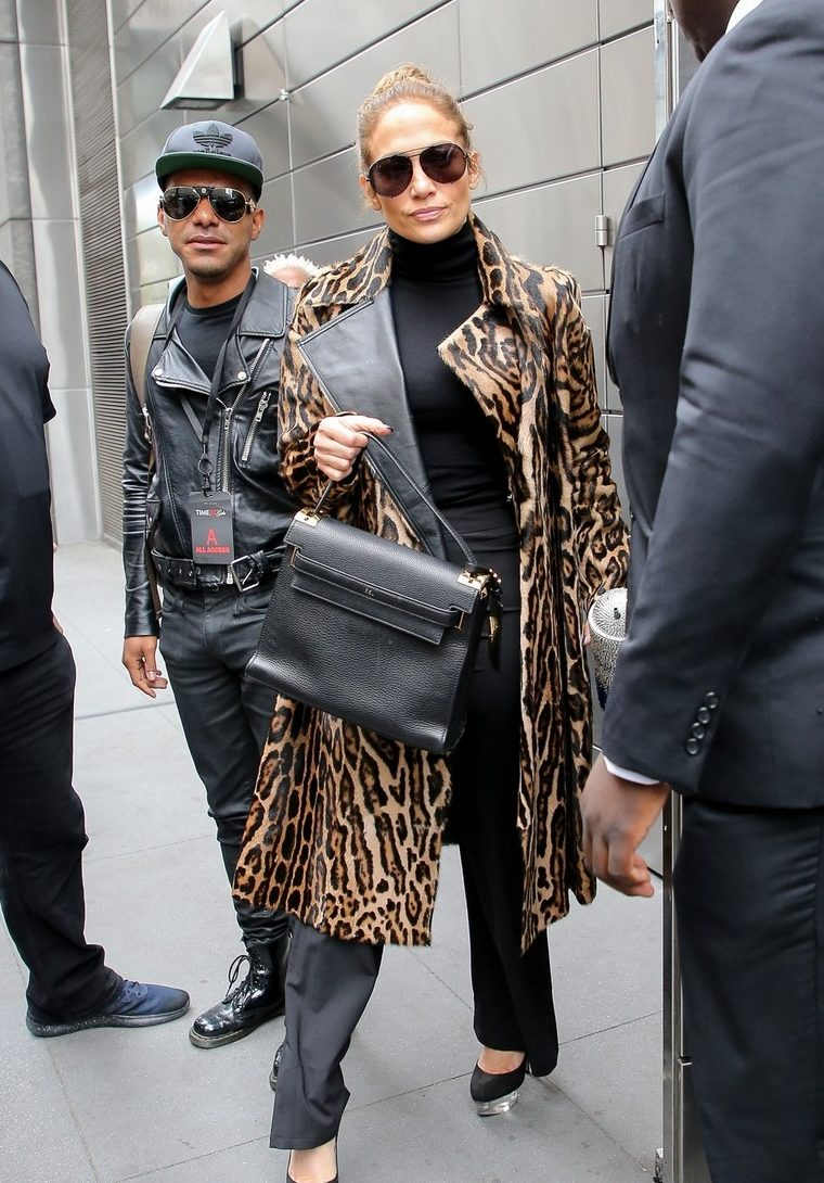 Call PETA! Jennifer Lopez Wears a LEOPARD in NYC! image