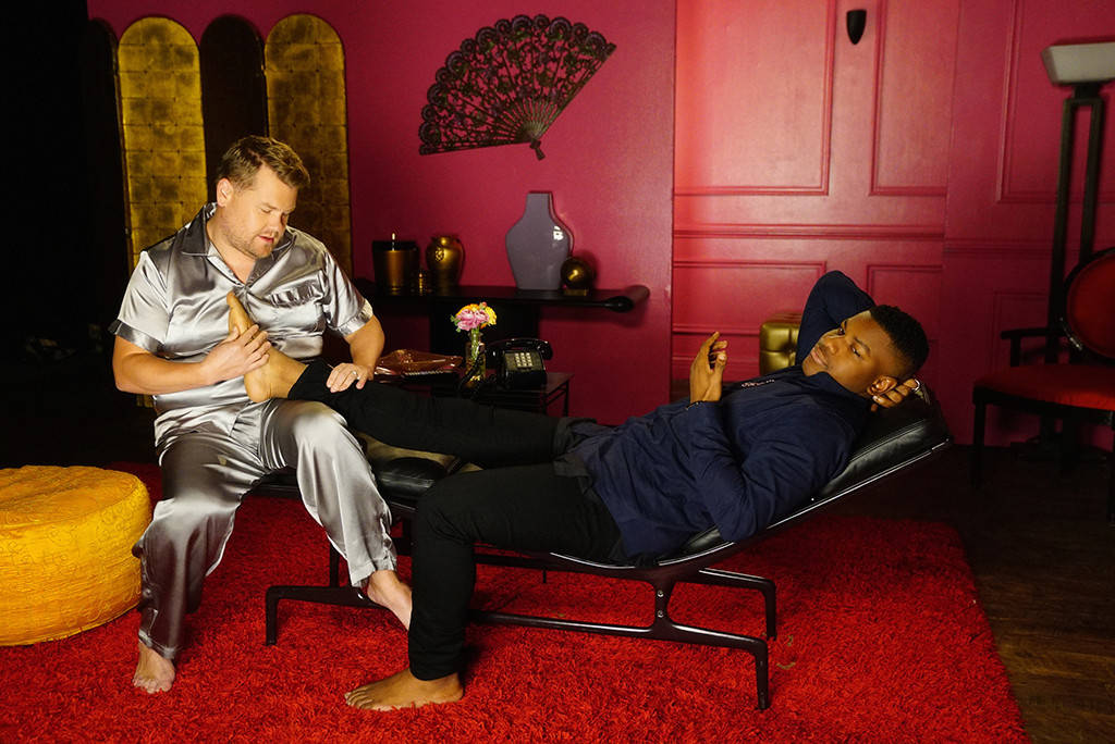 James Corden Battles for John Boyega's Love in 'Boy is Mine' Parody image