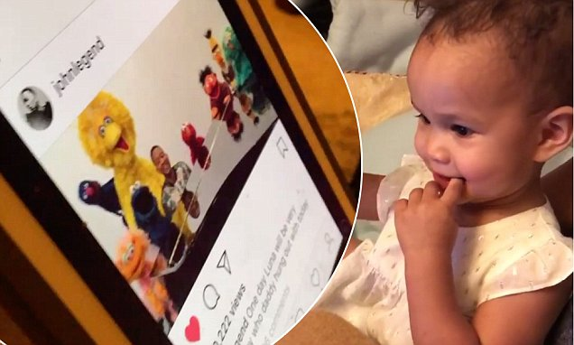 John Legend's Daughter Cannot BELIEVE That He Was on 'Sesame Street!' image