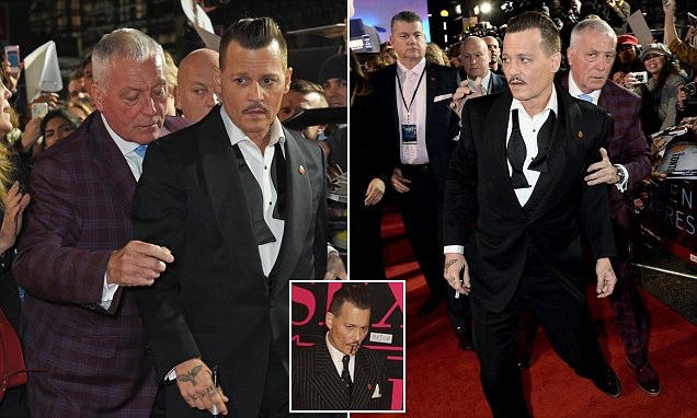 Johnny Depp Was DRUNK at at Movie Premiere image
