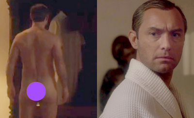 Jude Law Nude For 'The Young Pope'