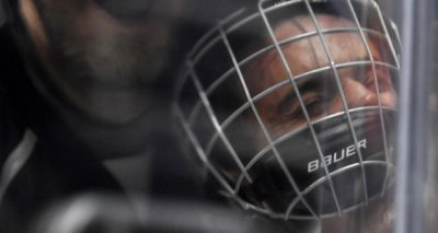 Justin Bieber SLAMMED Against Glass During Ice Hockey Game