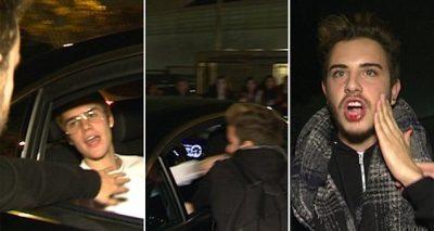 FIGHT BACK: Watch Justin Bieber PUNCH a Fan Who Stuck Hand in Bieber's Window!