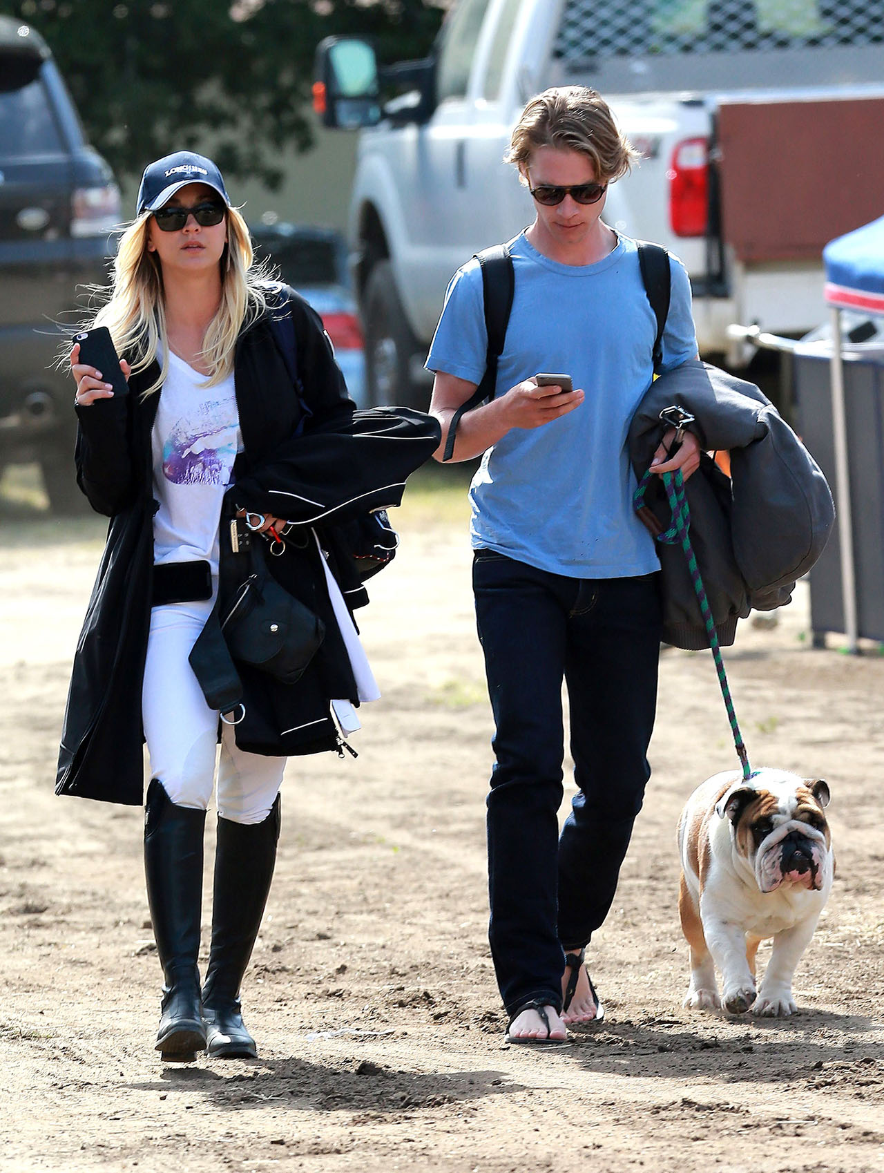 Kaley Cuoco and Karl Cook step out as a couple for the first time at a Equestrian Competition