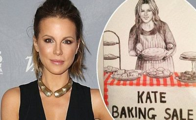 Kate BAKING SALE HAHAHAHA: Actress Kate Beckinsale Pokes Fun @ Herself
