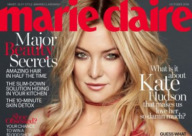 Kate Hudson: Lady in Red on Marie Claire Cover, Explains Why Forgiveness Is Necessary @ the End of a Relationship