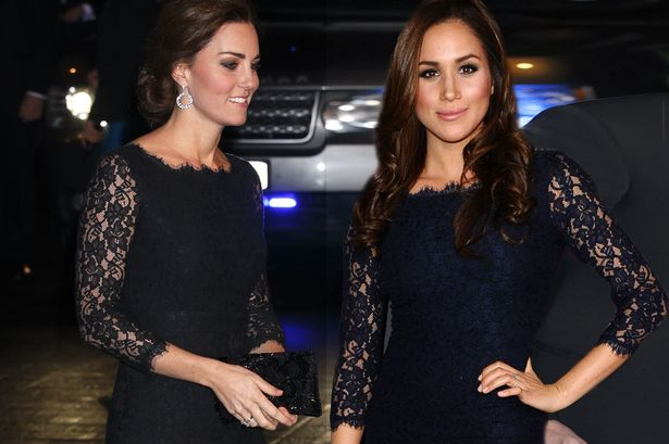 COPYCAT! Meghan Markle Wears the EXACT SAME Dress as Kate Middleton