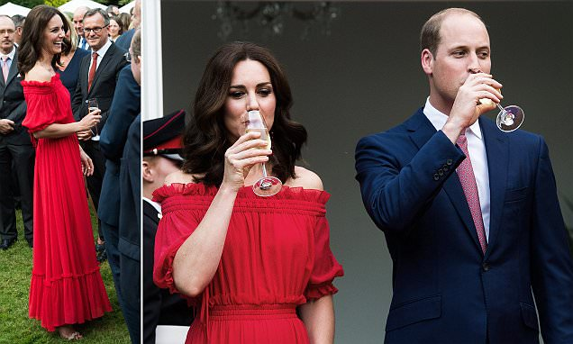 Kate Middleton is a ROSY-RED Lady @ Queen's Birthday Party