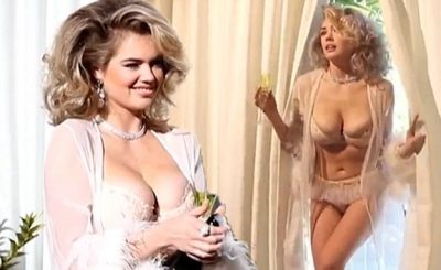 Kate Upton Dresses in Sexy La Perla Lingerie For LOVE Advent Video