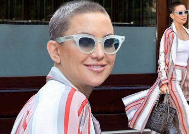 Kate Hudson Jokes About Her BALD Look!