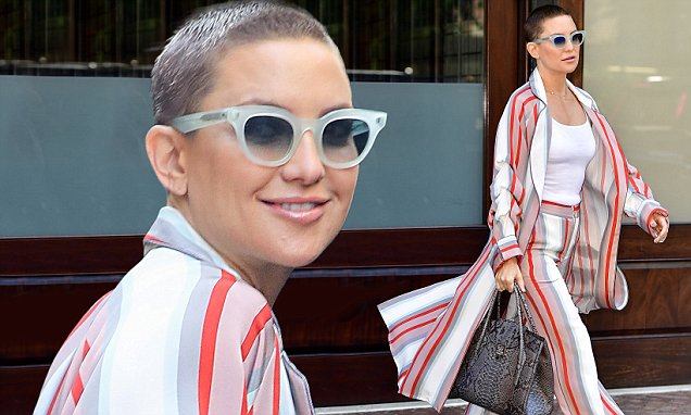 Kate Hudson Jokes About Her BALD Look! image