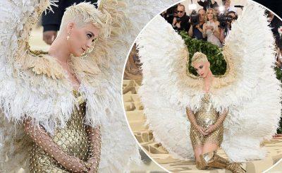 'Dark Angel' Katy Perry ALMOST MISSED The Met Gala!