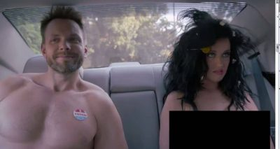 Katy Perry Gets Naked and Arrested to Vote