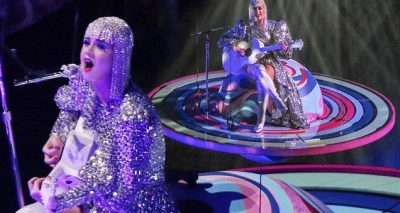 KATY PERRY Gets Stuck on Saturn During Concert