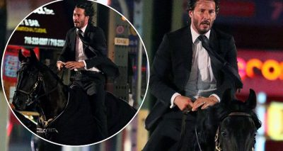 Keanu Reeves Riding a BLACK HORSE for 'John Wick 3'