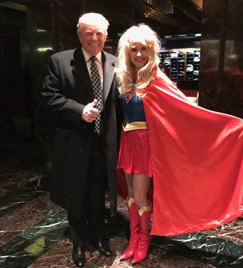 SUPERWOMAN: Trump Campaign Manager Kellyanne Conway Dresses Up at 'HEROES & VILLAINS' Party image