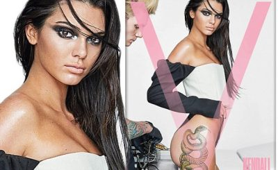 Kendall Jenner Gets Tattooed For V Magazine by Mario Testino