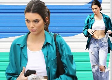 KENDALL Jenner Flashes Abs While Wearing a FLASHY Outfit!